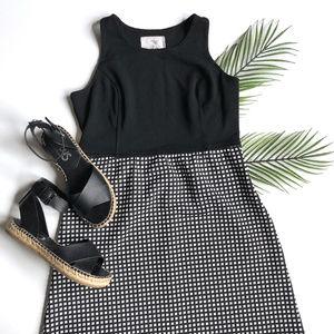 Anthropologie Tabitha Geometric Check Dress